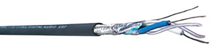 Belden Black Installation Cable, SF/UTP 0.36 mm² CSA 5.97mm OD 22 AWG 300 V 76m