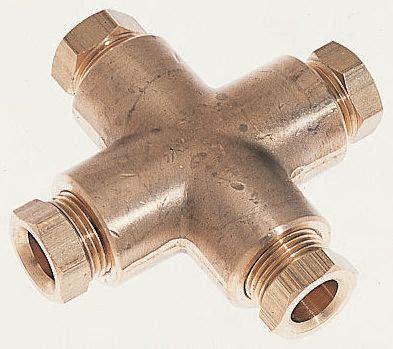 4 way enots comp cross connector1/4in & 34013104K Norgren | 4 way enots comp cross connector1/4in | 210 ...