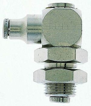 Pneumatic Bulkhead Threaded-to-Tube Adapter, Push In 8 mm BSPPx8mm product photo