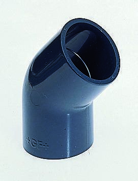 721151110 45° Elbow PVC Pipe Fitting, 13mm dia. product photo