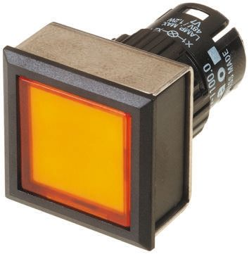 Modular Switch Body, IP65, Yellow, Panel Mount, Momentary for use with Series 61 -20°C +55°C