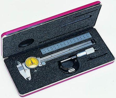 Starrett Metric Dial Caliper, Micrometer, Rule DY6535 Measuring Set