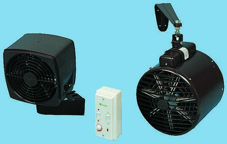 Wh30 3kw Fan Heater Wall Mounted Rs Components