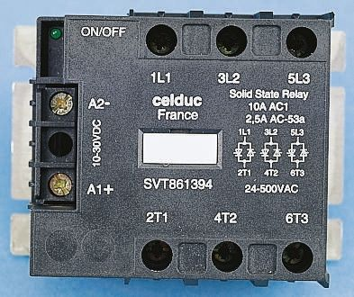 Celduc 95 A Solid State Relay Zero Crossing Chassis Mount