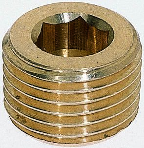 Brass 1/2 in BSPT Male Plug Threaded Fitting product photo