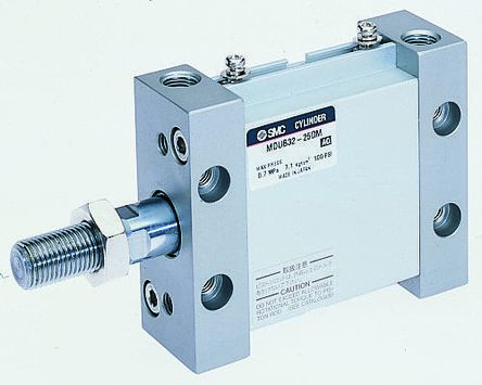 Pneumatic Multi-Mount Cylinder MU Series, Double Action, Single Rod, 32mm Bore, 25mm stroke product photo