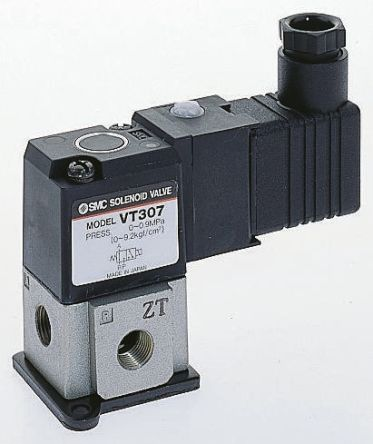 SMC VT307, G1/8 Pneumatik-Steuerventil, 3/2-Wegeventil, 3/2 ...