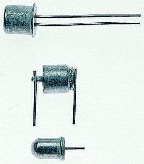 5 ° Mercury Tilt Switch, 100 mA ac, 200 mA dc, 120V