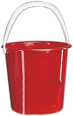 10L Plastic Red Bucket With Handle product photo