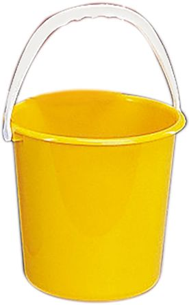 10L Plastic Yellow Bucket With Handle product photo