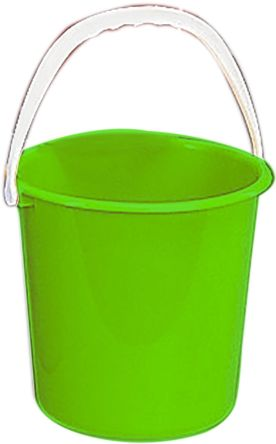 10L Plastic Green Bucket With Handle product photo
