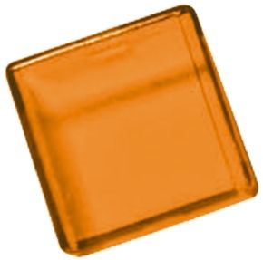 Panel Mount Indicator Lens Square Style, Amber, 18 mm Long