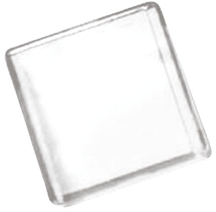 Panel Mount Indicator Lens Square Style, Clear, 18 mm Long