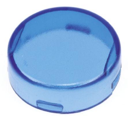 Panel Mount Indicator Lens Round Style, Blue, 16mm diameter