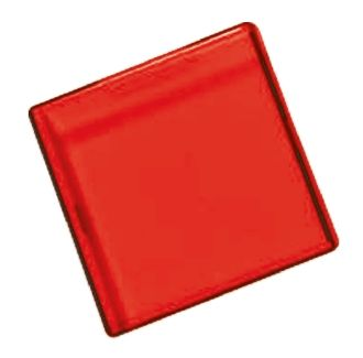 Panel Mount Indicator Lens Square Style, Red, 29 mm Long