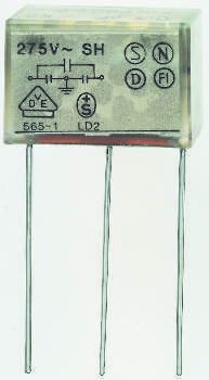 KEMET Paper Capacitor 4.7 nF, 100 nF 275V ac ±20% Tolerance PZB300 Through Hole +100°C