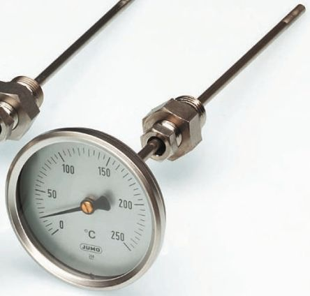 Dial Thermometer, Centigrade Scale, -50 → +50 °C, 100mm dia. Immersion