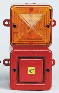 TL100 Sounder Beacon, Orange Xenon, 230 V ac