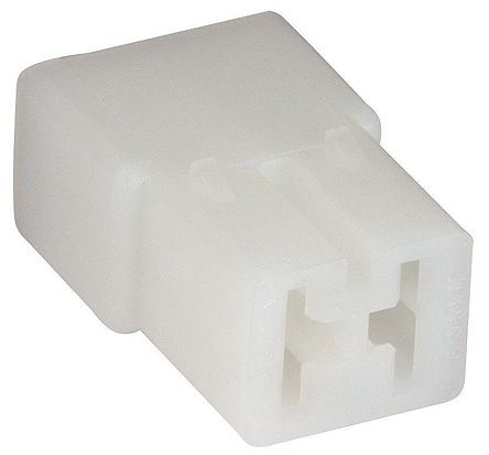 TE Connectivity AMP FASTIN-FASTON Series, 2 Way Nylon 66 Crimp Terminal Housing, 6.35mm Tab Size, Natural