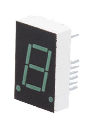 HDSP-8601 Broadcom 7-Segment LED Display, CA Green 1 96 mcd RH DP 20 3mm