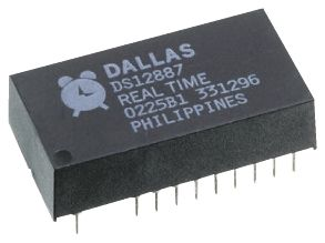 Maxim Integrated DS12C887A+, Real Time Clock (RTC), 128B RAM Multiplexed, 24-Pin EDIP