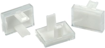 Clear Rectangular Push Button Lens for use with 31 Series