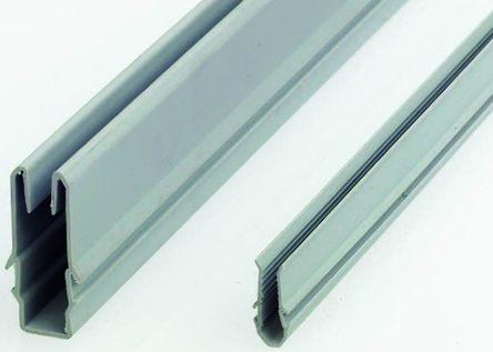 FlexLink Cover Strip, PVC, 11mm Slot, Grey x