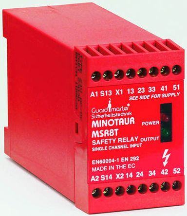 Allen dley Guardmaster MSR8T 24 V ac/dc Safety Relay Single Channel on