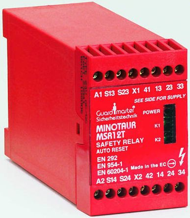 Allen dley Guardmaster MSR11R 110 V ac Safety Relay Dual Channel With on