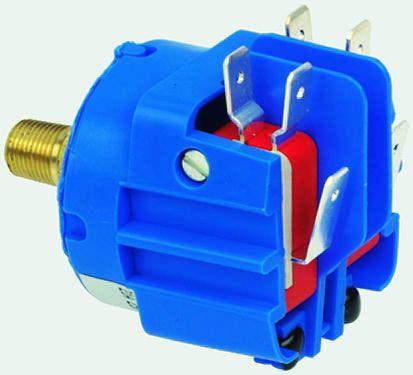 Herga Air, Gas, Liquid, Oil Pressure Switch, SPCO 45 → 75psi, 220 V dc, 250  V ac, BSP 1/8 process connection
