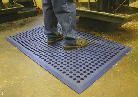 COBA Worksafe Individual Rubber Anti-Fatigue Mat x 900mm, 1.5m x 12mm