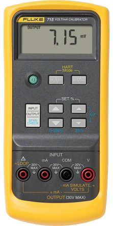 Fluke 715 Current & Voltage Calibrator 0 → 24 mA