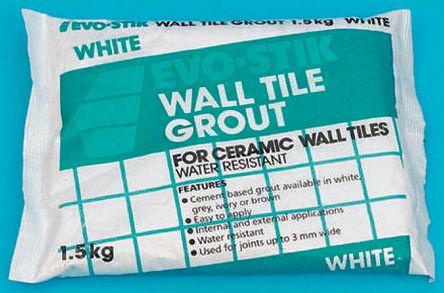 478701 Evo Stik Wall Tile Grout Powder 500g 264 1243
