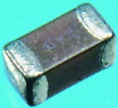 KEMET 100pF Multilayer Ceramic Capacitor MLCC 200V dc ±5% C0G Dielectric 0402 (1005M), Max. Temp. +125°C