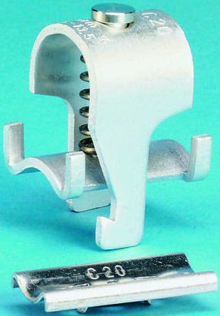 RS Pro Kabelklemme, Edelstahl weiß, 16,5mm Kabel-ø |
