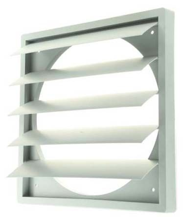 Backdraught shutter for axial fan 250mm
