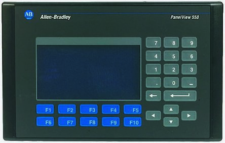 Allen Bradley Backlit LCD HMI Terminal, 5 5 in Display, 18 → 30 V dc, 85 →  264 V ac Supply