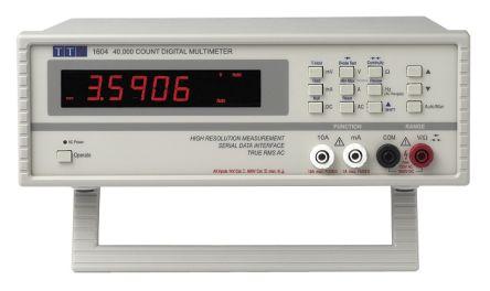 Aim-TTi 1604 Bench Digital Multimeter, 10A ac 750V ac 10A dc 1000V dc