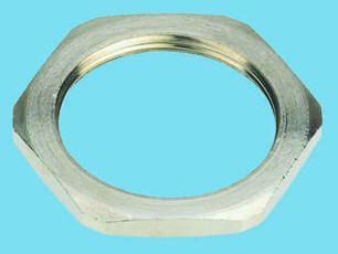 Nickel plated brass locknut,M20 3 5mm T