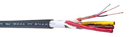 Belden Black Installation Cable, U/STP 0.21 mm² CSA 9.45mm OD 24 AWG 300 V 76m