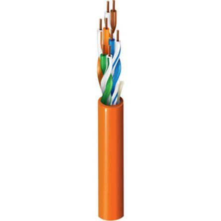 Belden Yellow PVC Cat5e Cable U/UTP, 305m Unterminated
