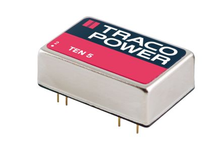 TRACOPOWER TEN 5 6W Isolated DC-DC Converter Through Hole, Voltage in 18  36 V dc, Voltage out 5V dc