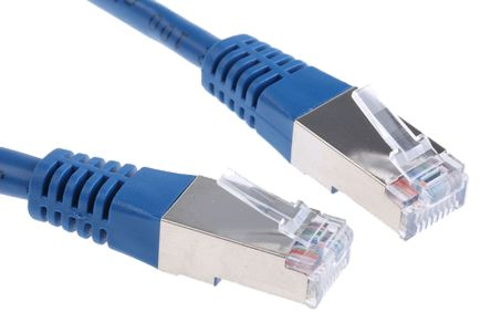 Surprising Cr503B5Cbl 5M F Utp Cat5 Ethernet Cable Assembly Blue Rs Components Wiring 101 Vieworaxxcnl