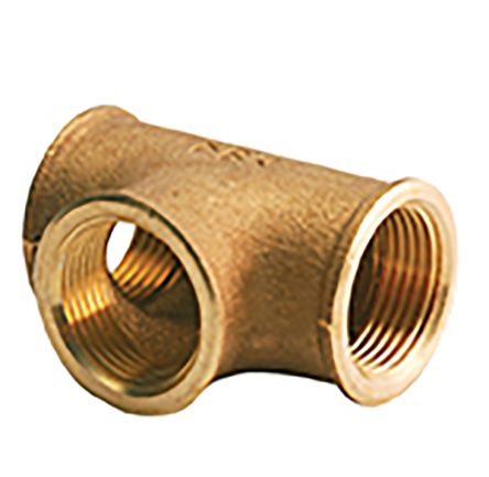 Brass 1 in BSPP Female x 1 in BSPP Female Equal Tee Threaded Fitting product photo