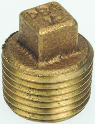 Brass 1 in BSPT Male Plug Threaded Fitting product photo
