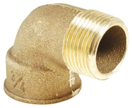 Bronze 3/4 in BSPP Male x 3/4 in BSPP Female 90° Elbow Threaded Fitting product photo