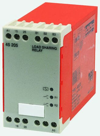 Broyce Control Load Sharing Monitoring Relay with DPST Contacts, 230 V ac