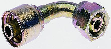 BSP 1/2 Female 90° Steel Crimped Hose Fitting, 275 bar product photo