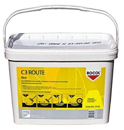 Rocol C3 ROUTE Tarmac Repair Bitumen Tub of 25 kg