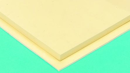 Beige Natural Rubber Sheets, 1m x 1m x 3mm